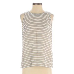 *J.Crew Factory Taupe Beige Gray and White Striped
